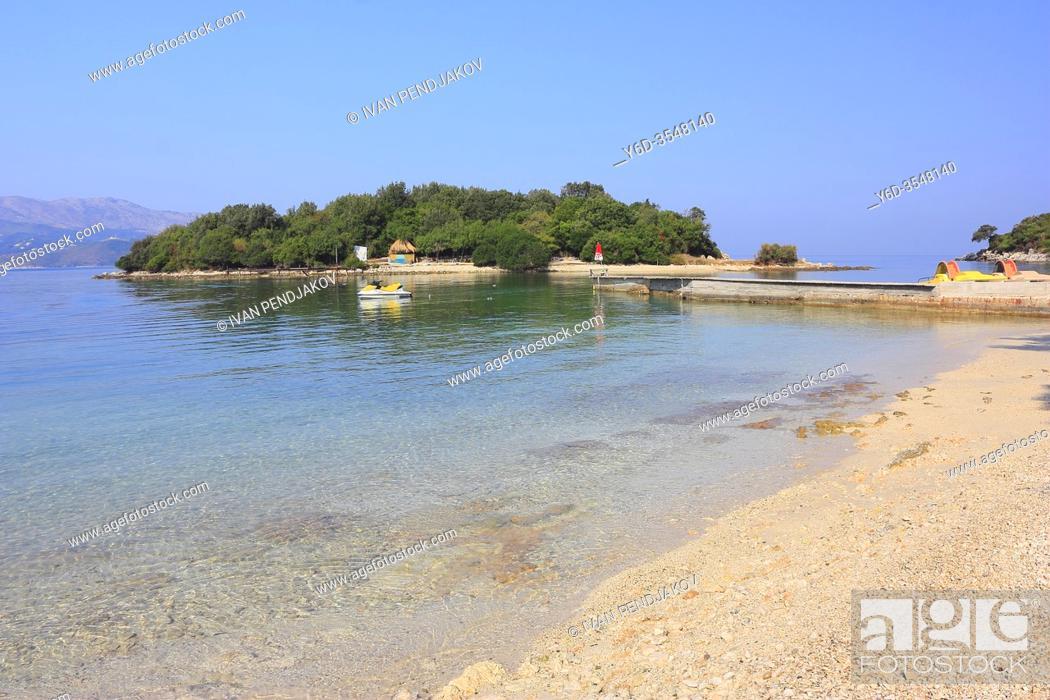 Stock Photo: Ksamil Beach and Islands, Butrint National Park, Albania.
