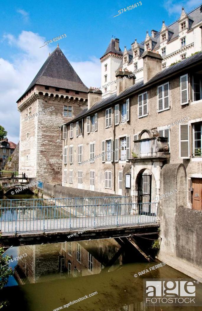 Stock Photo: Chateau de Pau in Atlantic Pyrenees. France.