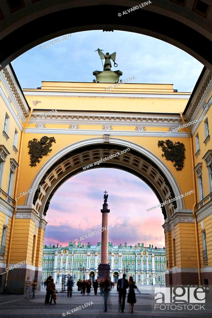 Stock Photo: Palace Square. St. Petersburg. Russia.