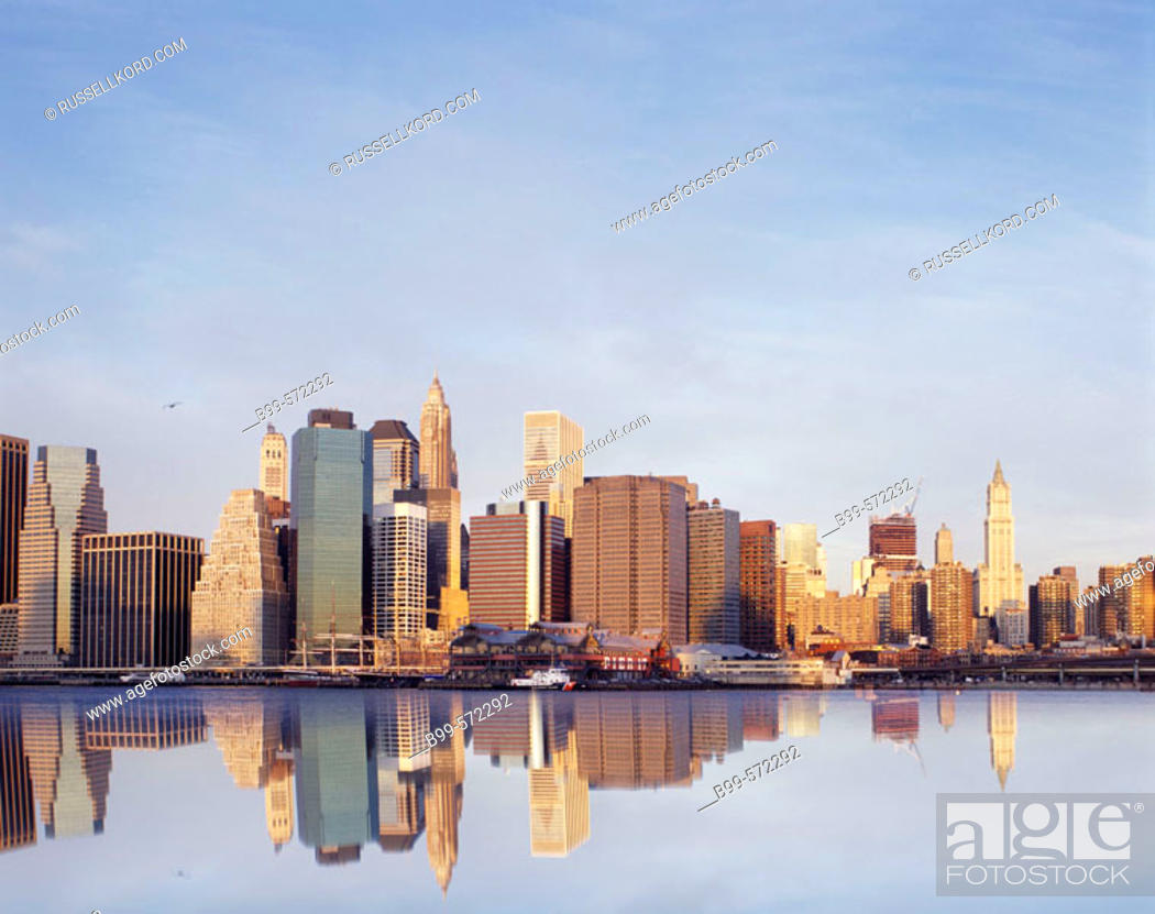 Stock Photo: Downtown Skyline, Manhattan, New York, USA.