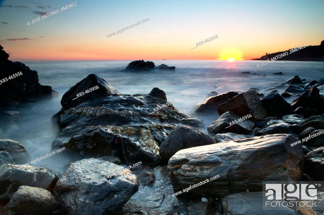 Photo de stock: Cañamiel beach. Nerja. Costa del Sol. Málaga province, Andalusia, Spain.