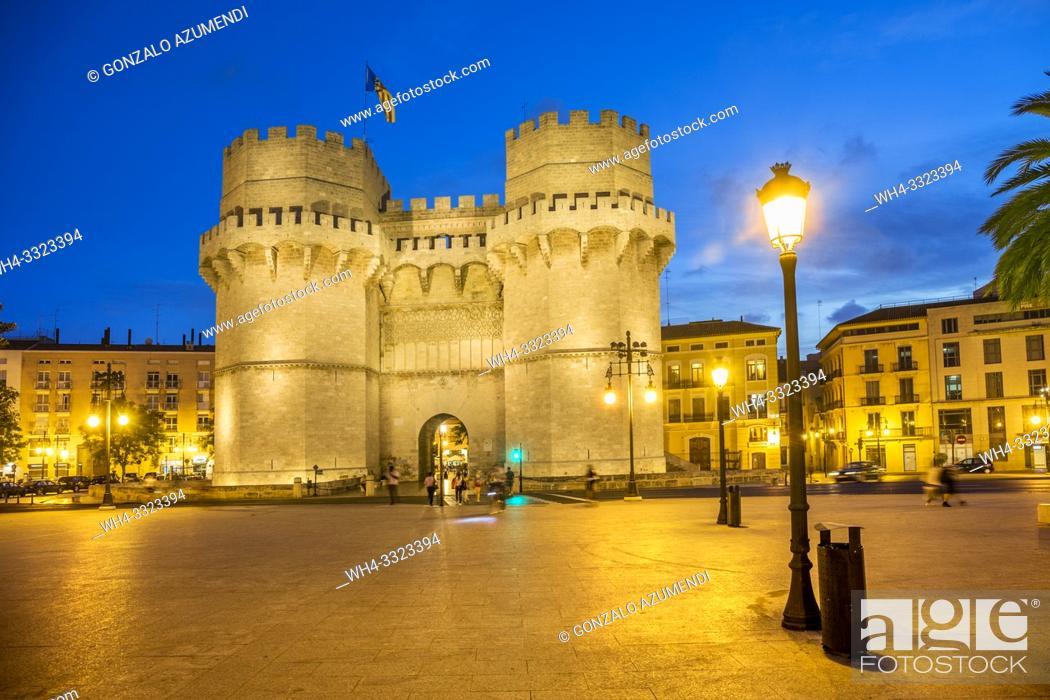 Stock Photo: Serranos Towers. Valencia. Comunidad Valenciana. Spain.