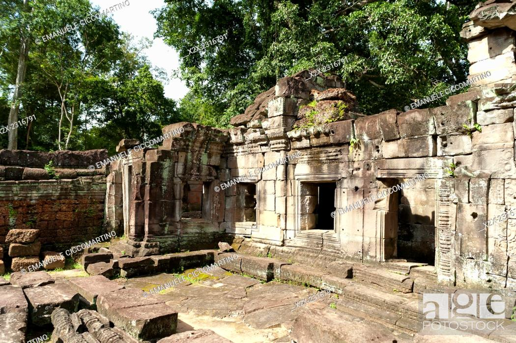 Stock Photo: Preah Khan, UNESCO World Heritage Site, Angkor, Siem Reap, Cambodia, Indochina, Southeast Asia, Asia.
