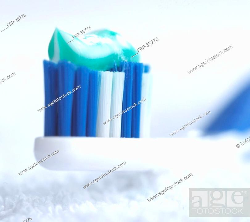 Stock Photo: tooth-brush toothpaste.