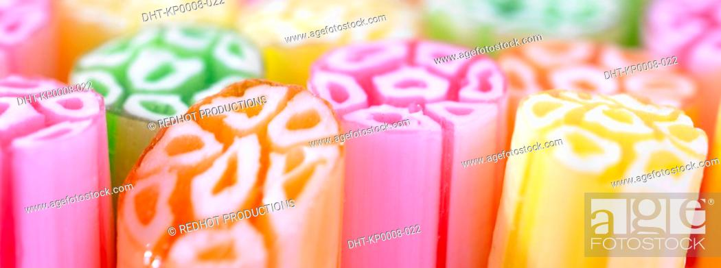Stock Photo: Various colourful pieces of candy.