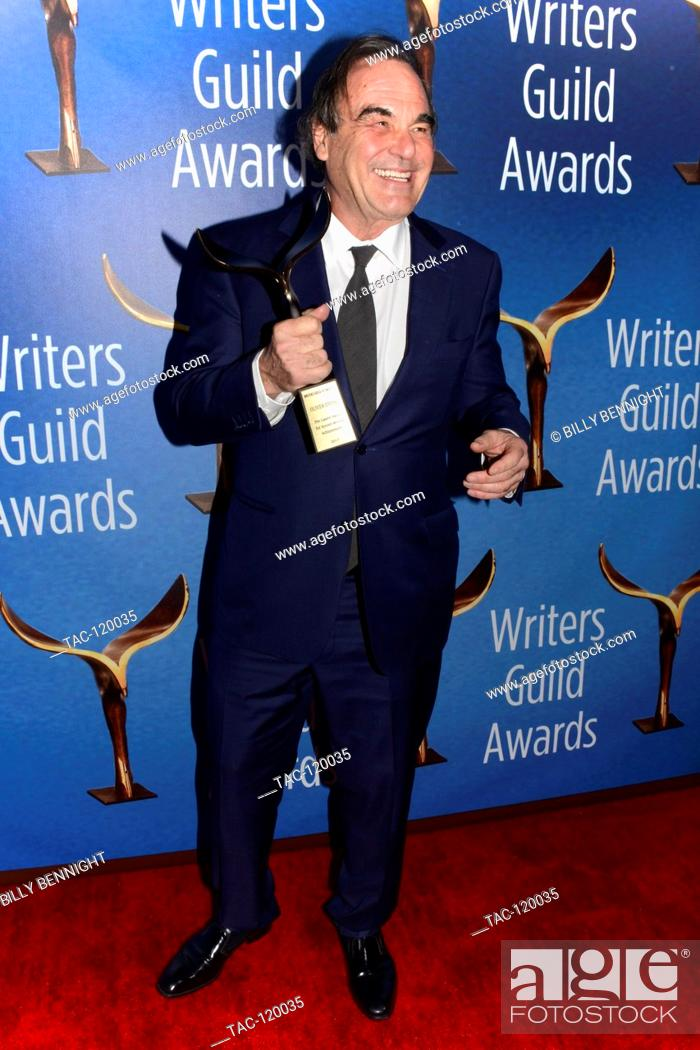 Stock Photo: Screenwriter/Director Oliver Stone poses with the Laurel Award for Screenwriting Achievement during the 2017 Writers Guild Awards L.A.