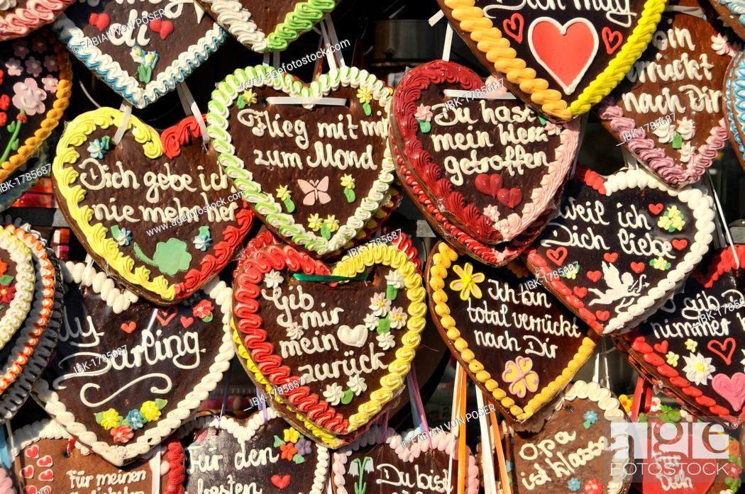 Gingerbread Hearts Oktoberfest Munich Bavaria Germany Europe