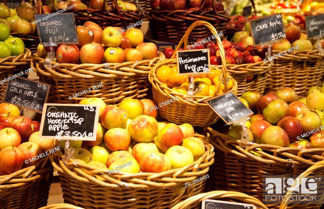 Stock Photo: Eataly Italian food market and marketplace in New York City Manhattan New York.