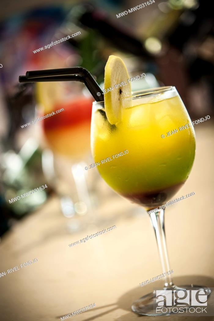 Imagen: A glass of Juice. Kumasi, Ghana, West Africa.