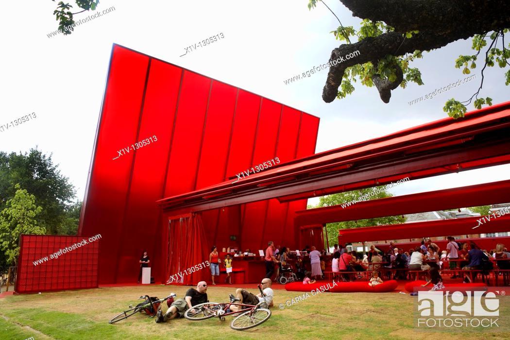 Stock Photo: Serpentine Gallery Pavilion 2010 by Jean Nouvel, London.