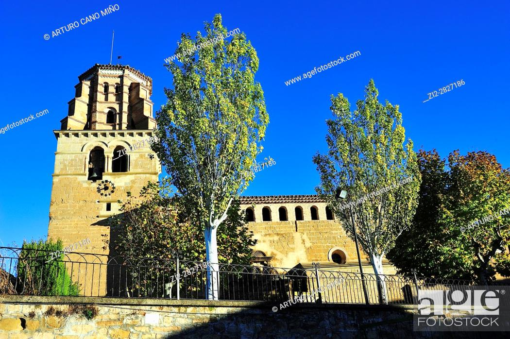 Imagen: Parish church of Saint Martin, XII-XVIth centuries. Sieso, Huesca province, Aragon, Spain.