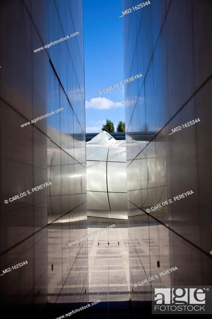 Stock Photo: Arab World Institute designed by Jean Nouvel, Paris, Ile de France, France, Europe.