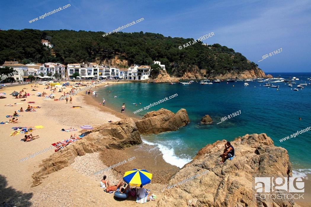 Stock Photo: Beach in Aiguablava, Costa Brava, Catalonia, Spain, Europe.