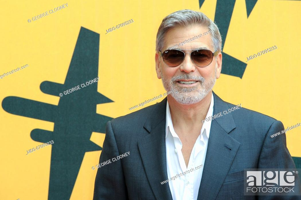 Photo de stock: American actor George Clooney attends the Sky TV series Catch-22 photocall. Rome (Italy), May 13th, 2019.