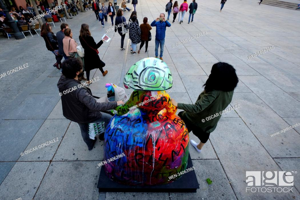 Imagen: 80 sculptures have been scattered around the city of Madrid by the Meninas Madrid Gallery Featuring: Atmosphere Where: Madrid.