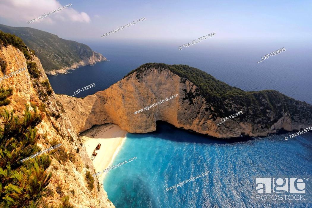 Stock Photo: Griechenland Zakynthos Shipwreck bay.