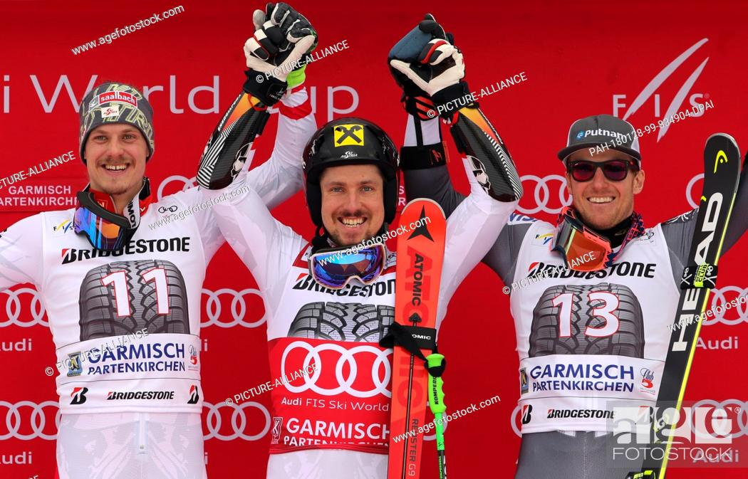 Second Placed Austrian Manuel Feller L R Winner Marcel Hirscher From Austria And American Ted Stock Photo Picture And Rights Managed Image Pic Pah 180128 99 834904 Dpai Agefotostock