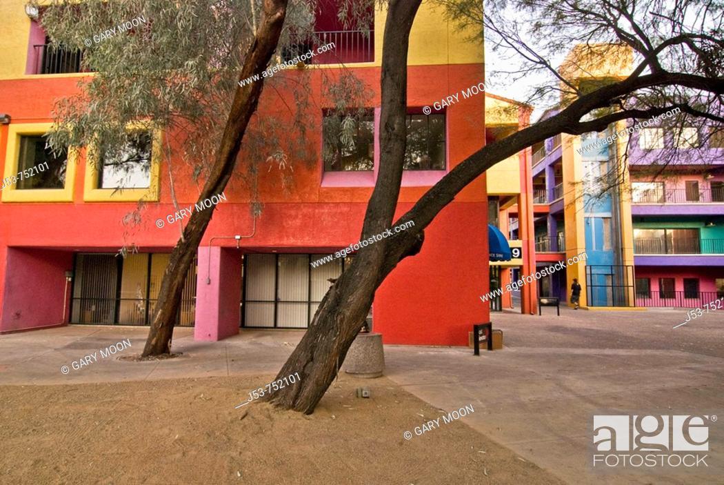 Stock Photo: La Placita Village shops and office complex, Tucson, Arizona, USA.