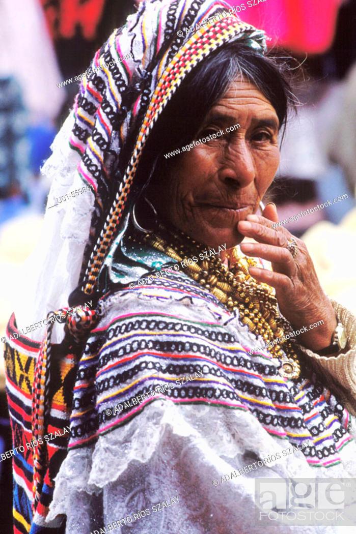 Stock Photo: Mayan Woman from Guatemala.