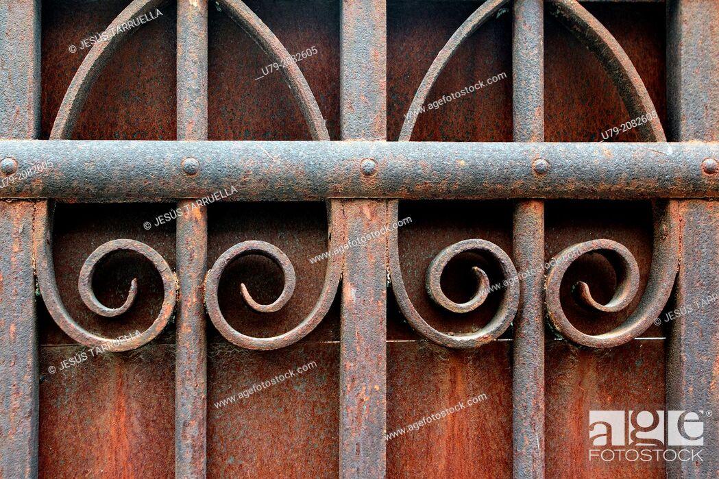 Stock Photo: Old door.