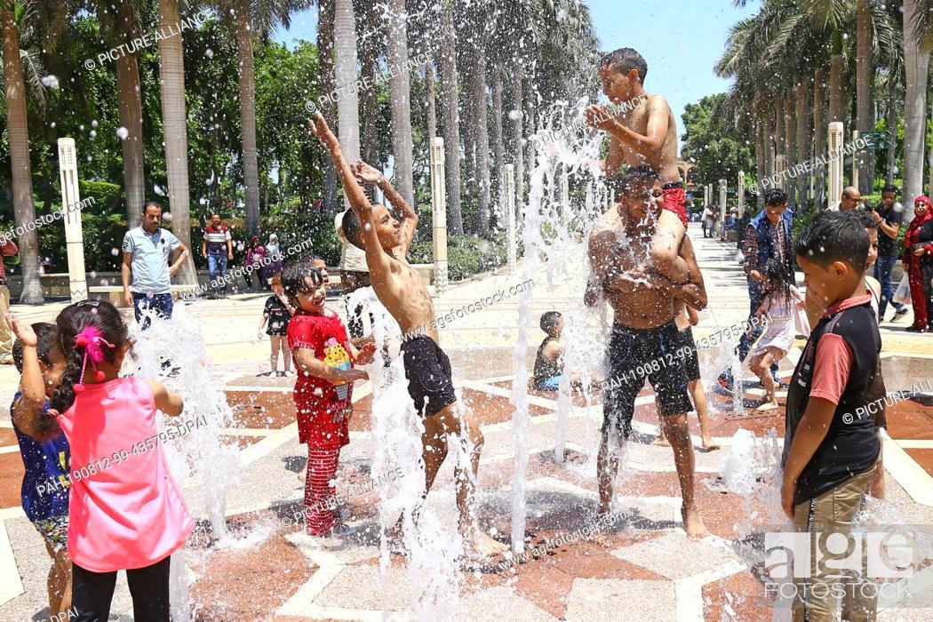 12 August 2019, Egypt, Cairo: Egyptian Children Play