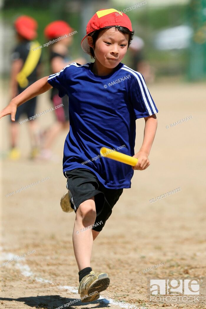 Stock Photo: Running children.
