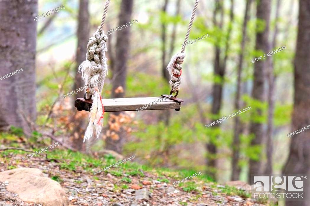 Stock Photo: departure of a swing.