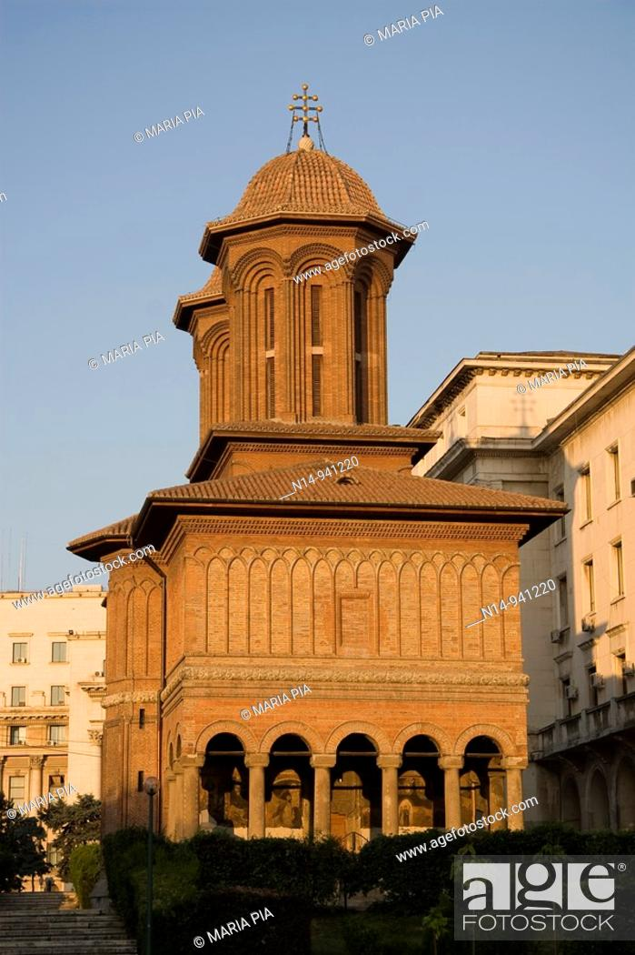 Stock Photo: Cretulescu Church, 1722, Bucharest, Romania.