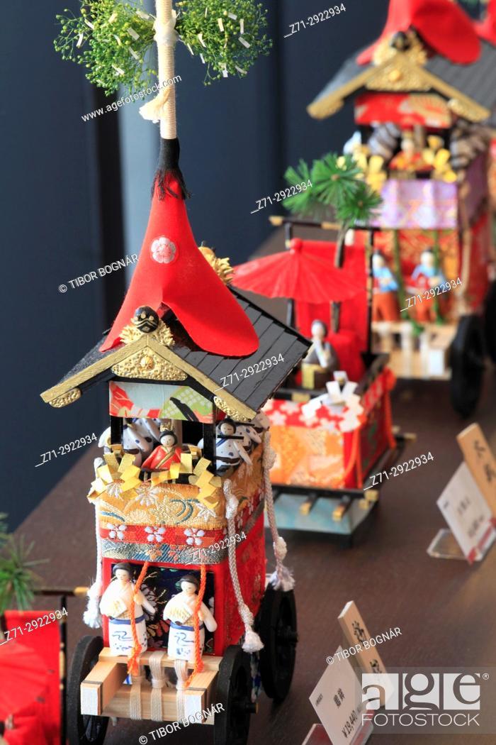 Stock Photo: Japan, Kyoto, Gion Matsuri, festival, float models,.