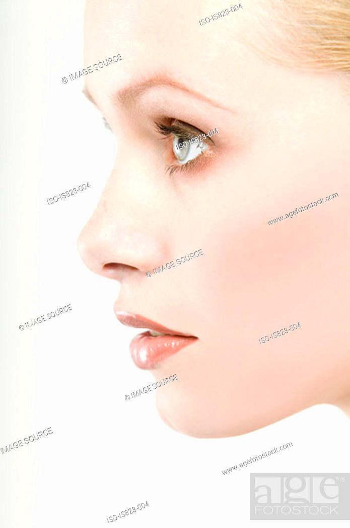 Stock Photo: Portrait of a beautiful woman.