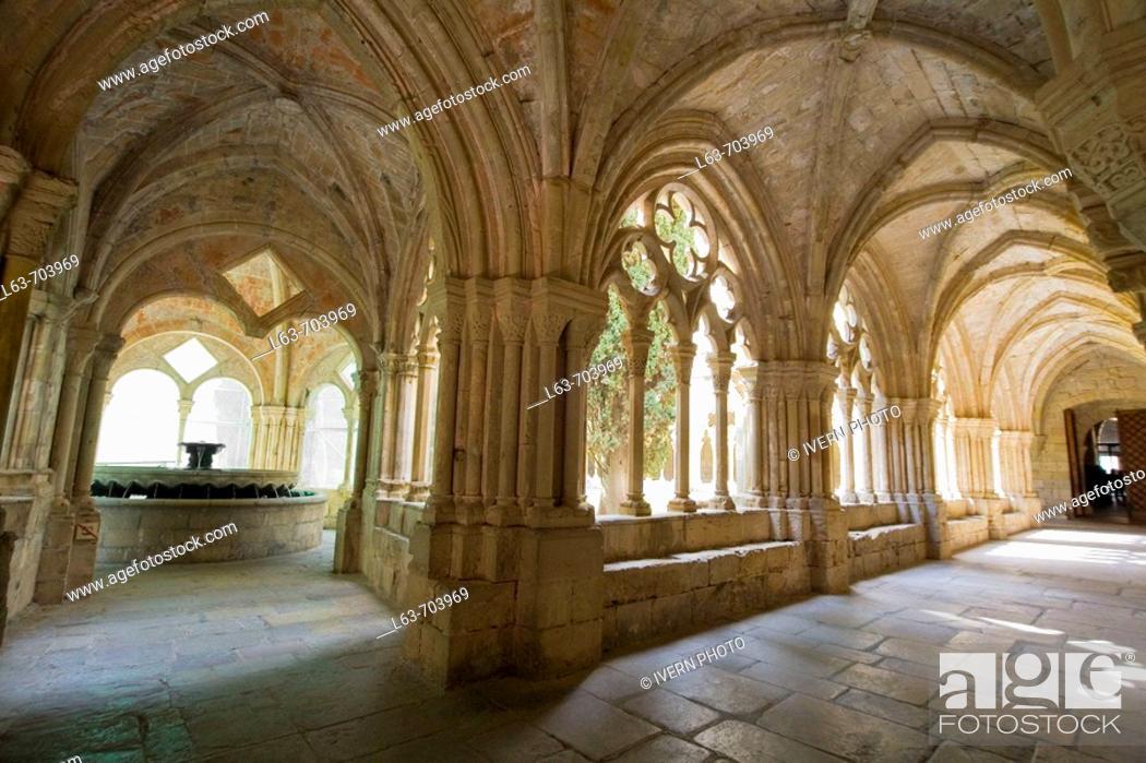 Stock Photo: Monastery of Poblet. Tarragona province, Catalonia, Spain.