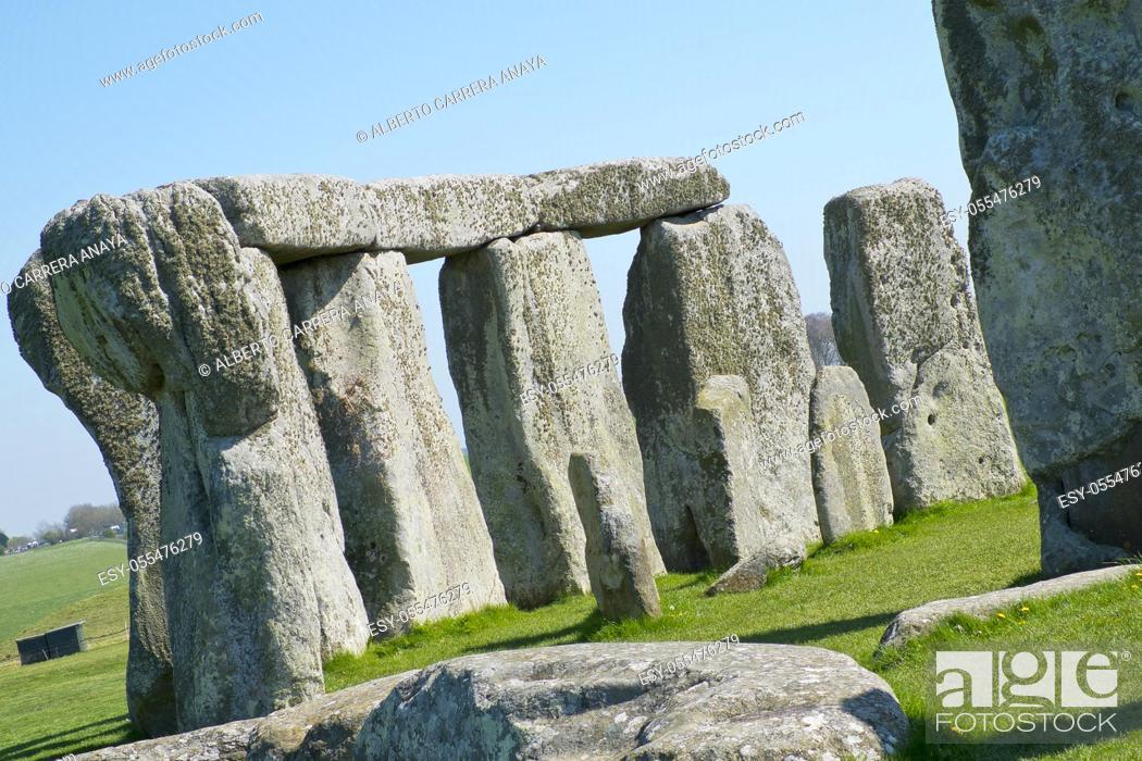 Stock Photo: Neolithic Ruins Stonehenge, UNESCO World Heritage Site, Salisbury, Wiltshire, England, Great Britain, Europe.