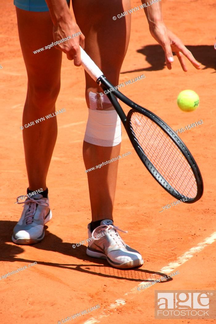Stock Photo: tennis player at the atp tournament at the foro italic rome italy 2011.