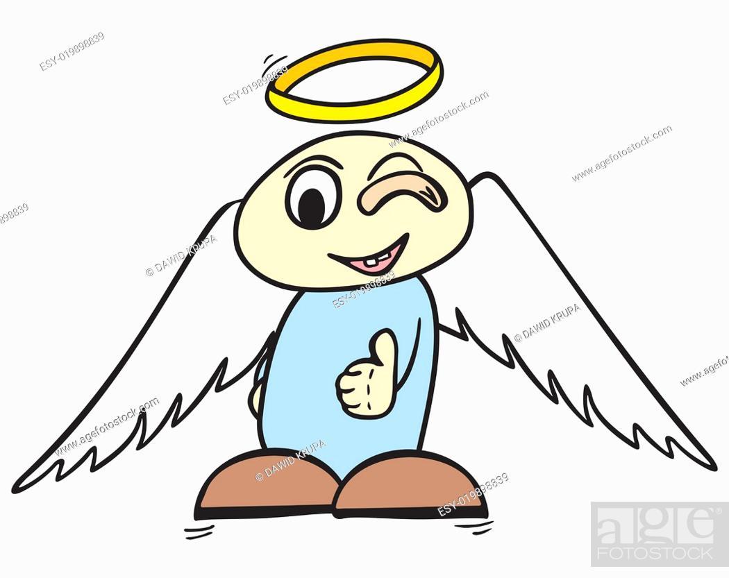 Stock Photo: OK angel.