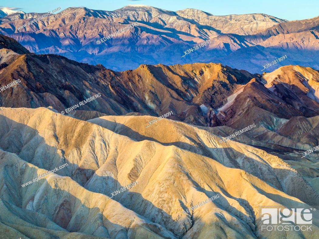 Stock Photo: Death Valley - Zabriskie Point.