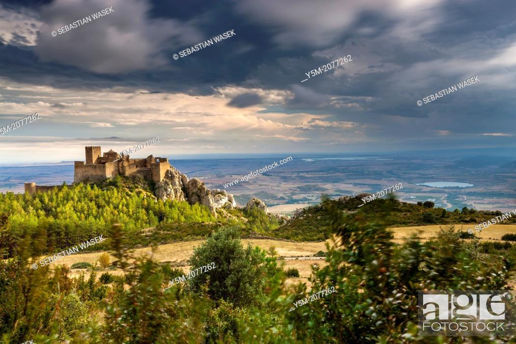 Stock Photo: Loarre castle, Huesca, Aragón, Spain, Europe.