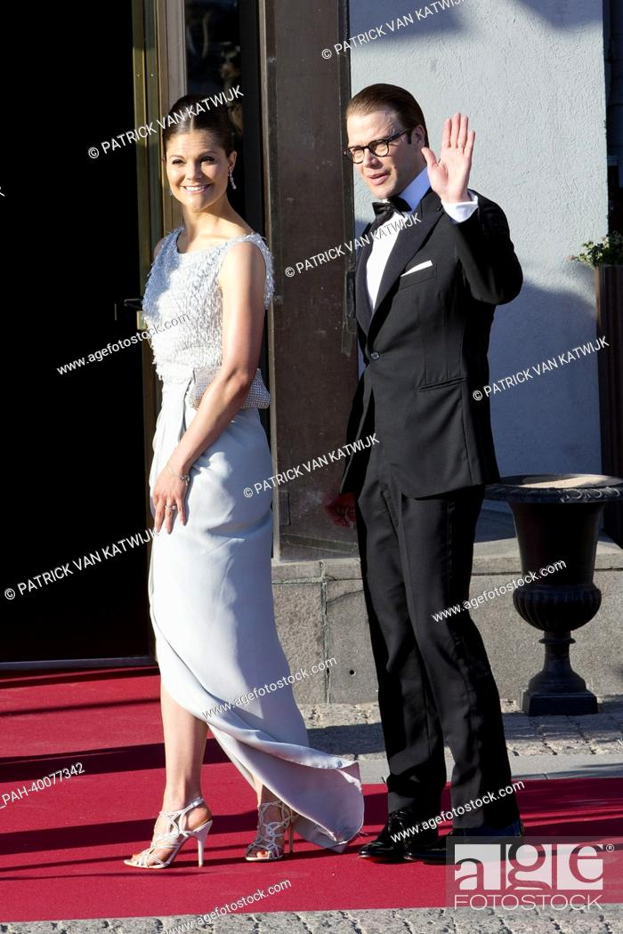 Crown Princess Victoria And Prinz Daniel Arrive For A Private Dinner Prior To The Wedding Of The Stock Photo Picture And Rights Managed Image Pic Pah 40077342 Agefotostock