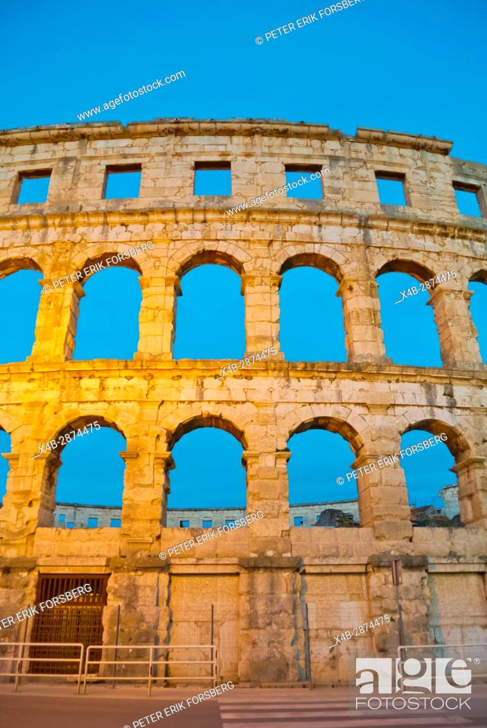 Stock Photo: Pula Arena, Roman era amphitheatre, Pula, Istria, Croatia.