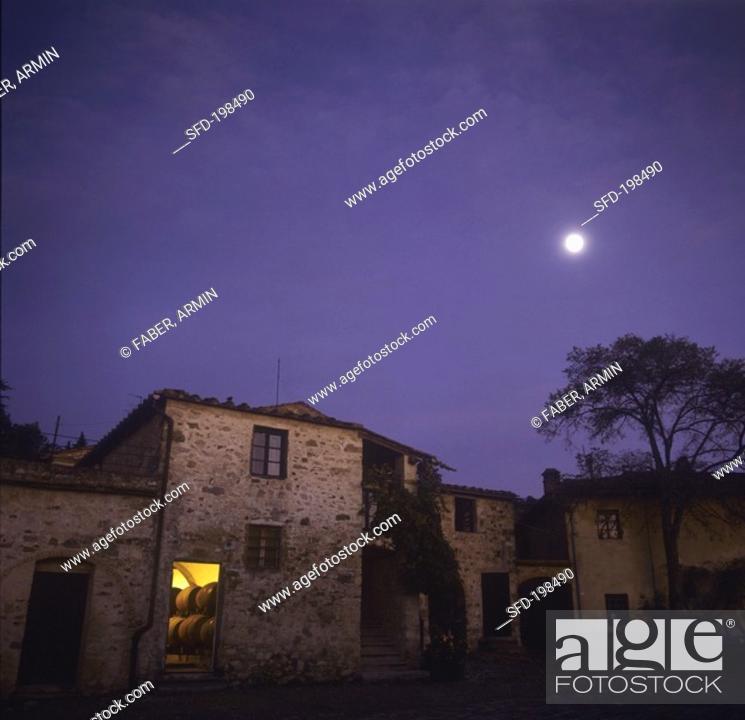 Stock Photo: Isole e Olena Wine Estate, Chianti Classico, Italy.
