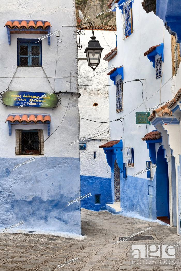 Stock Photo: Medina, old town, Chefchaouen, Chaouen, Morocco.