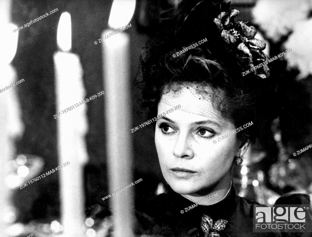 Stock Photo: Jan 12, 1976; Rome, Italy; Charming brunette star LAURA ANTONELLI well known for her sexy film, is now playing the role of a woman of the 'belle epoque' in th.
