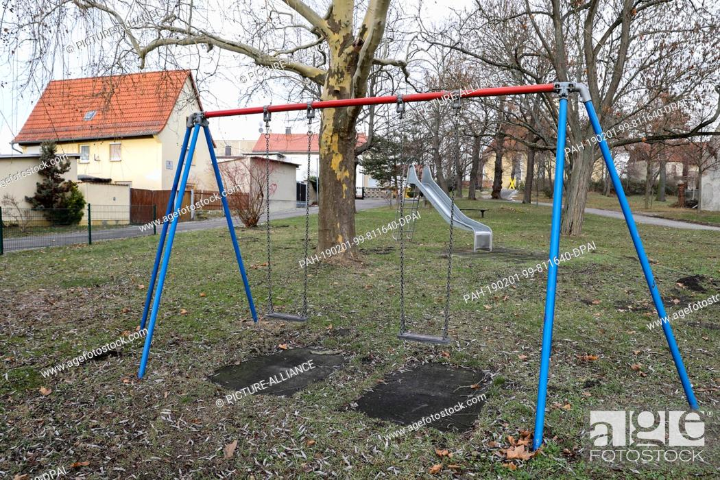 29 January 2019 Saxony Podelwitz A Mibrag Sign On A Detached House Behind An Abandoned Playground Stock Photo Picture And Rights Managed Image Pic Pah 190201 99 811640 Dpai Agefotostock