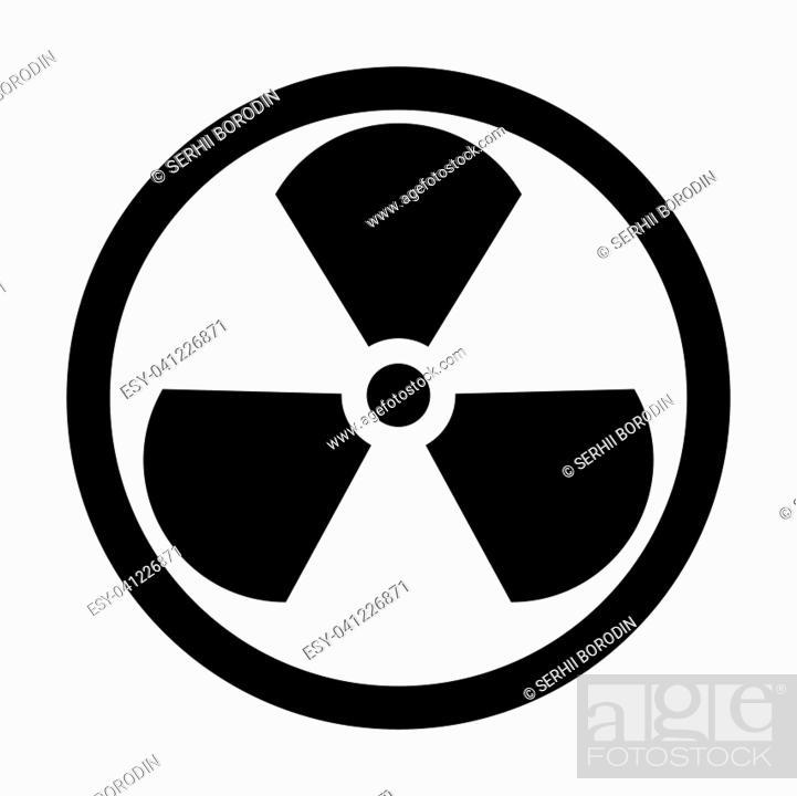 Vecteur de stock: Sign radioactive it is the black color icon .