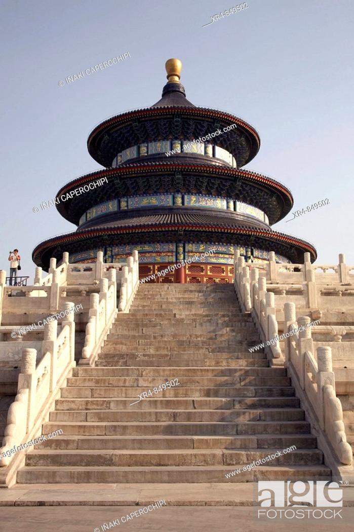 Stock Photo: Hall of Prayer for Good Harvests, Temple of Heaven, Beijing, China.