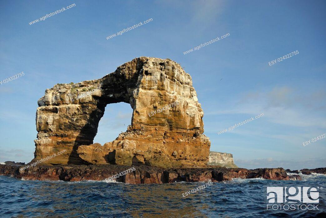 Stock Photo: Darwin's Arch, Darwin Island, Galapagos Islands, Ecuador, South America.