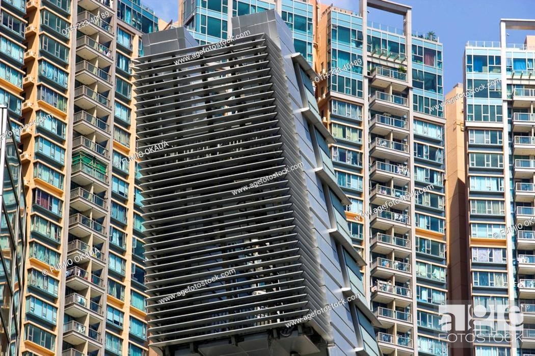 Stock Photo Apartments In Tsuen Wan West Kowloon Hong Kong