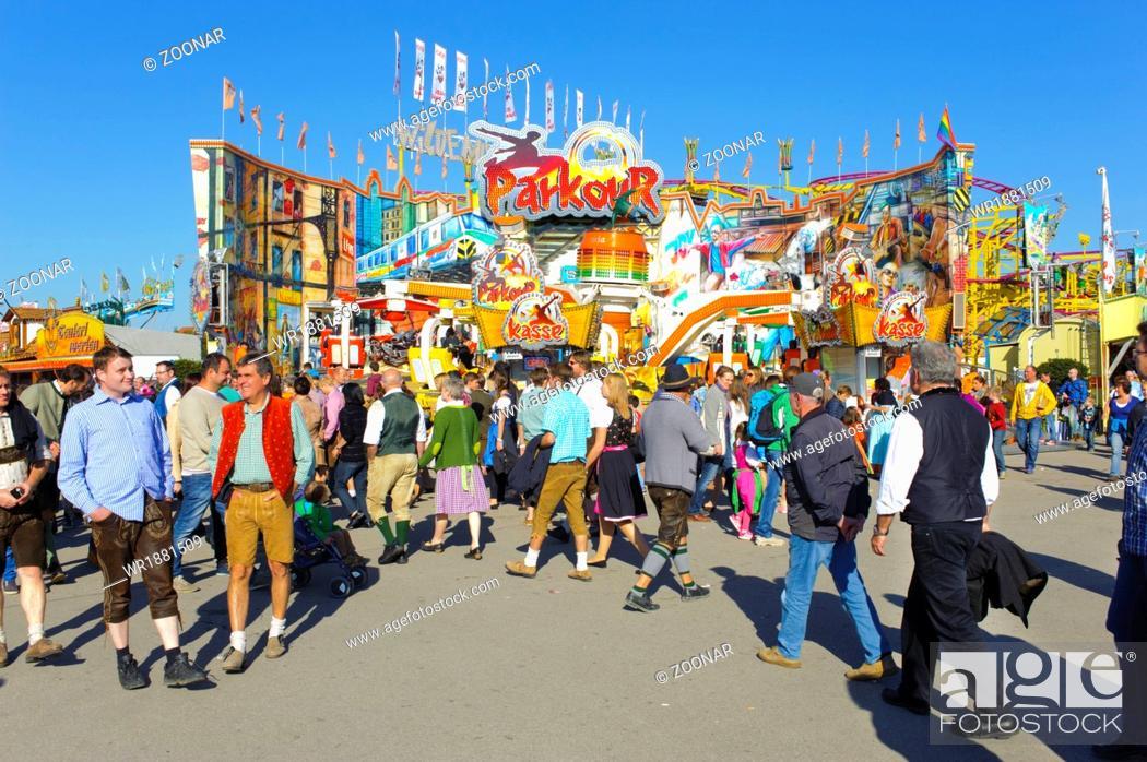 Stock Photo: Oktoberfest in Munich, Bavaria.
