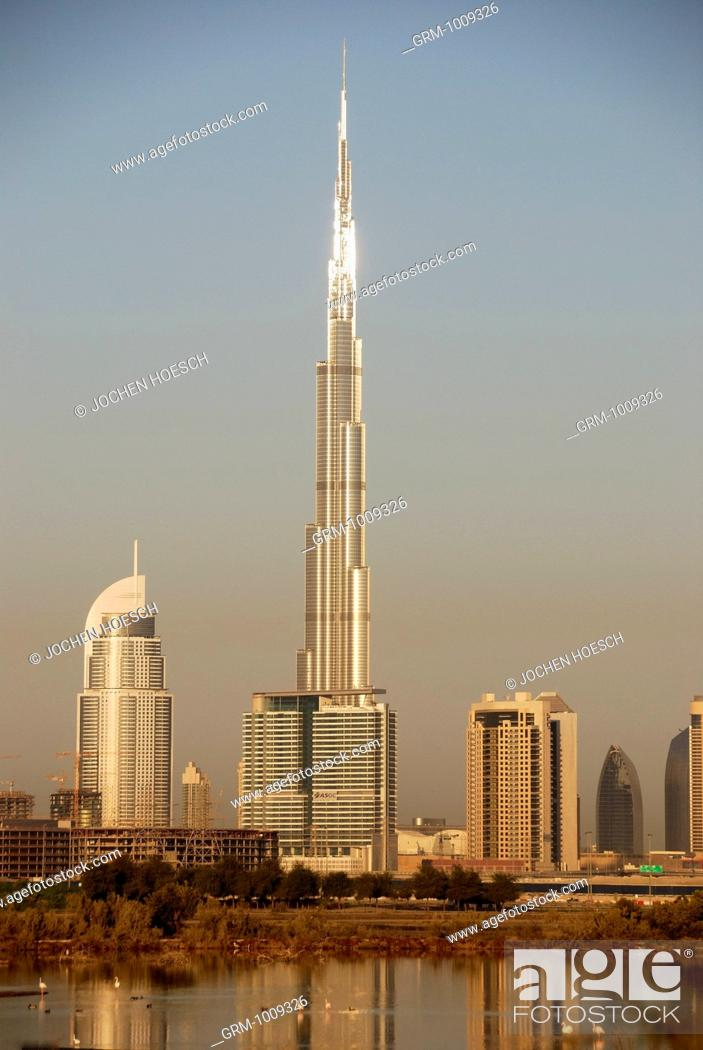Stock Photo: Burj Khalifa in Dubai, UAE.