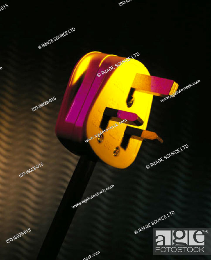 Stock Photo: Electric plug.
