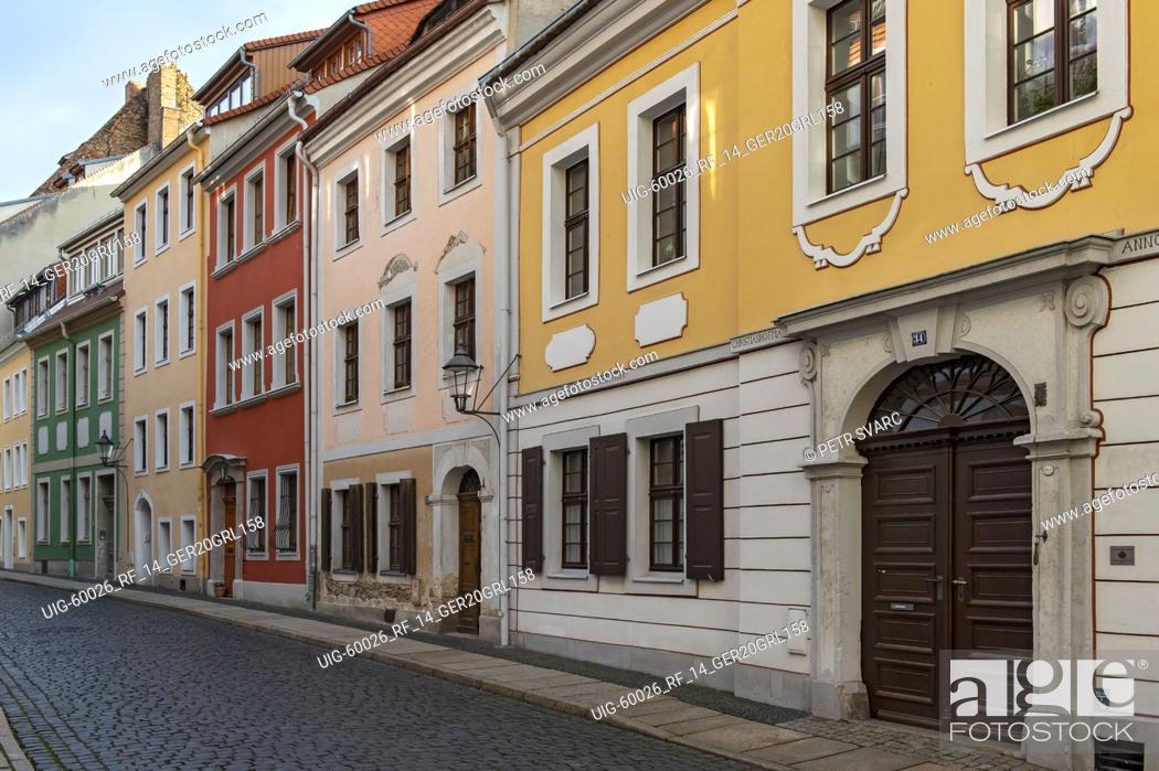 Stock Photo: Baroque houses in Kränzelstraße, Görlitz (Goerlitz), Germany.